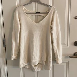 Express long sweater with cut out back
